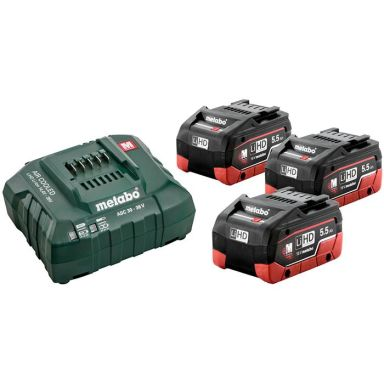 Metabo Bas-set Laddpaket 3st 5,5Ah batterier