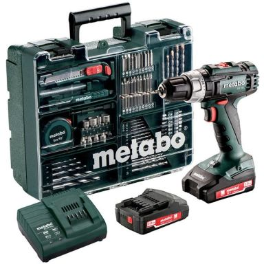 Metabo SB 18 L Set Slagbormaskin tilbehørssett, 2,0Ah-batterier og lader
