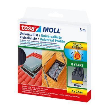 Tesa Universal 05962-00002-01 Tätningslist 5 m, 10 mm, 5 mm, svart