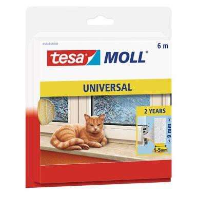 Tesa Tesamoll Universal Tätningslist i skumplast, 6 m, 9 mm x 6 mm
