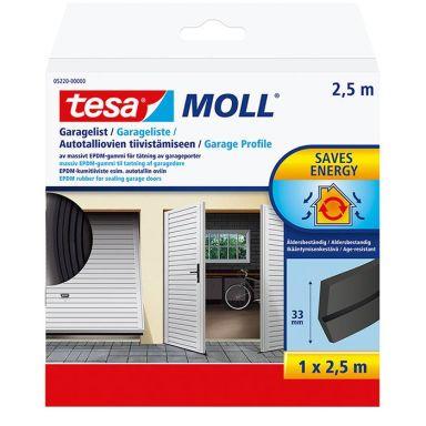 Tesa 05220-00000-01 Garagelist EPDM, 2.5 m x 33 mm, svart