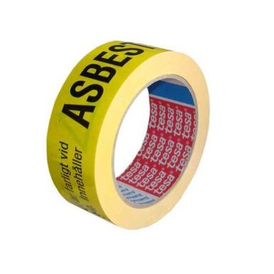 Tesa 6875 Varningstejp för asbest, gul/svart