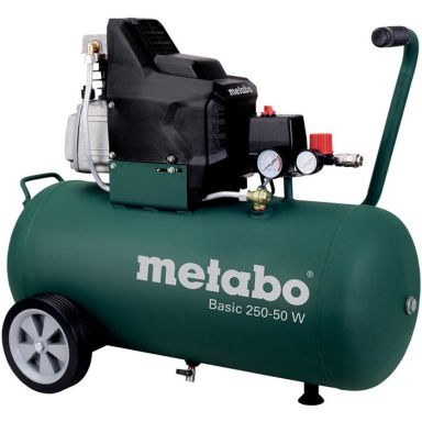 Metabo Basic 250-50 W Kompressor påfyllnadskapacitet 110 l/min, 50 liter