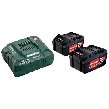 Metabo Bas-set Laddpaket med 2 st 4,0Ah batterier och laddare