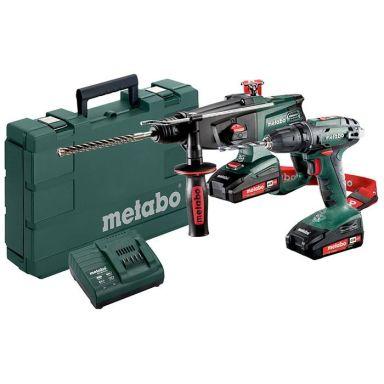 Metabo BS 18 + KHA 18 LTX Verktygspaket med 2,0Ah batterier och laddare