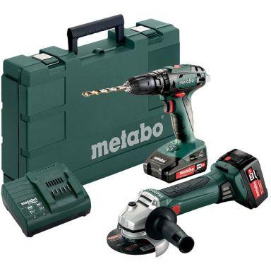 Metabo SB 18 + W 18 LTX 125 QUICK Verktygspaket med batterier och laddare