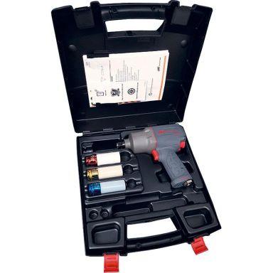 Ingersoll Rand 2235QTIMAX-3SK Muttertrekker med hylser og koffert