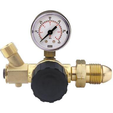 Sievert 308311 Regulator med regulerbart trykk, ventil, manometer