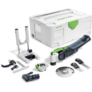 Festool Vecturo OSC 18 Li E-Basic Set Multiverktyg med tillbehör, utan batteri och laddare