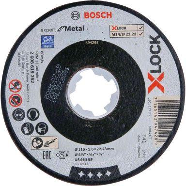 Bosch Expert for Metal Kappskive X-LOCK, rett skjæring