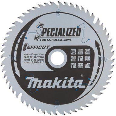 Makita B-57320 Sågklinga Efficut, Ø 165 mm