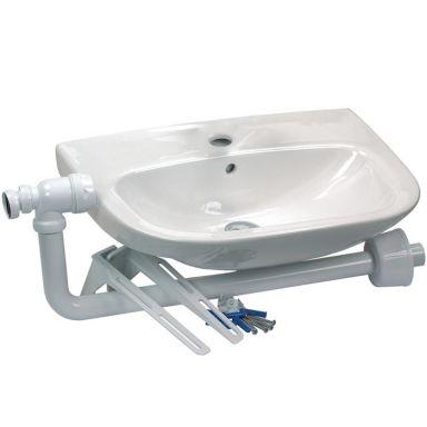 Gelia 3013028932 Tvättställ inkl. vattenlås & tillbehör