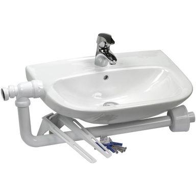 Gelia 3013029082 Tvättställspaket inkl. blandare, vattenlås & tillbehör