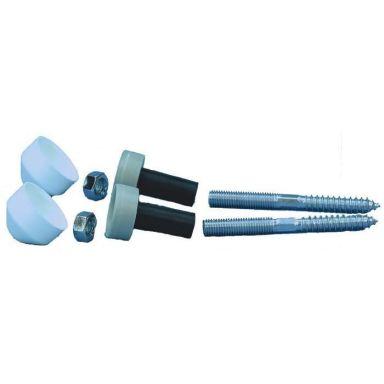 Gelia 3016021072 Montagesats för vägghängd WC/bultm. tvättställ
