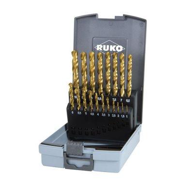 Ruko 250214TRO Poranteräsarja 1-10 mm, 19 kpl