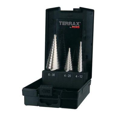 Ruko A101126RO Trinnborsett 3 deler, i plastkassett