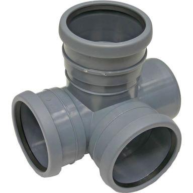 Pipelife 170265 Hörngrenrör med 3 muffar, 88,5°, 110 mm