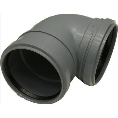 Pipelife 176001 WC-böj med 2 muffar, lågbyggande språng, 110 mm