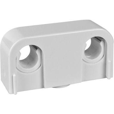 Faluplast 14000 Rörklammer dubbel, med snäpplock, 12/15/16 mm