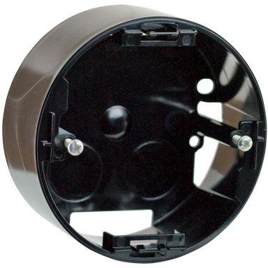 Schneider Renova Dosa för strömbrytare, 1-fack, svart, hög