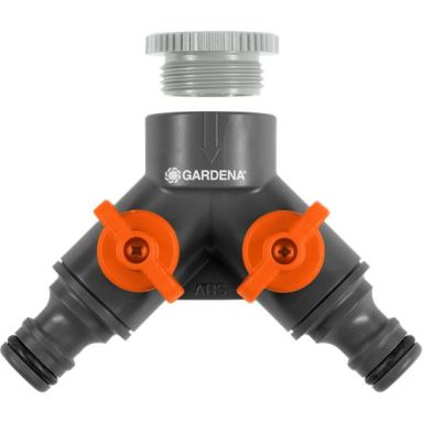 Gardena 936 Tvåvägskran med adapter