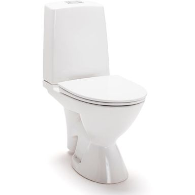 IDO Glow Rimfree 3756301101 Toalettstol med mjuksits, avl. höger