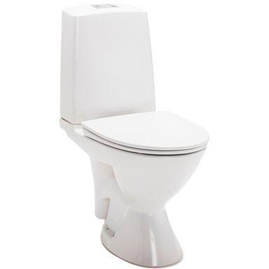 IDO Glow Rimfree 3746301101 Toalettstol med mjuksits, avl. vänster