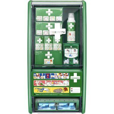 Cederroth 51011003 Førstehjelpsstasjon med brannskadeutstyr