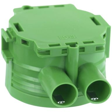 Gelia 1426024-2 Apparatdosa grön, enkelgips, inkl. låsfjäder
