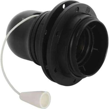 Gelia 100000943 Lamphållare E27, gängad, med dragströmställare