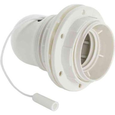 Gelia 100000905 Lamphållare E27, gängad, med dragströmställare