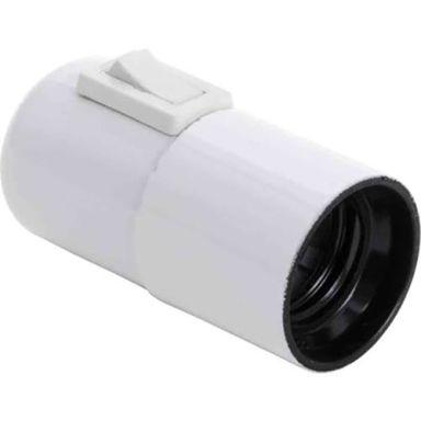 Gelia 100000954 Lamphållare E27, slät, med vippströmbrytare