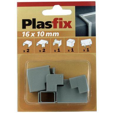 Plasfix 3420-7G Nivelet ja kulmakappaleet Plasfix-kaapelikanaviin, 16 x 10 mm