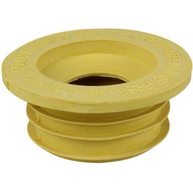 Faluplast 3106244 Gumminippel gul, för 1 1/2 tum
