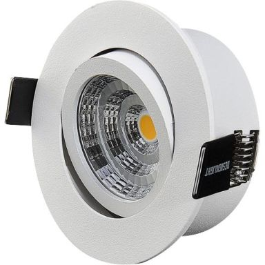 Designlight Q-1MW Downlight med drivdon, 3000 K, tilt
