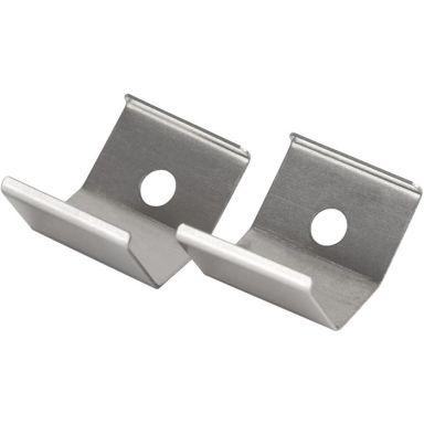 Hide-a-Lite Art Corner Monteringsklips til Art Corner, aluminium, 2-pakk