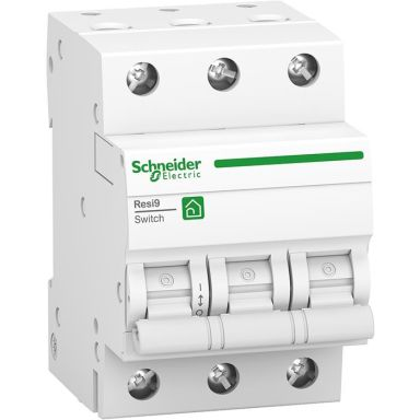 Schneider Resi9 Huvudbrytare 3-pol, med vippa
