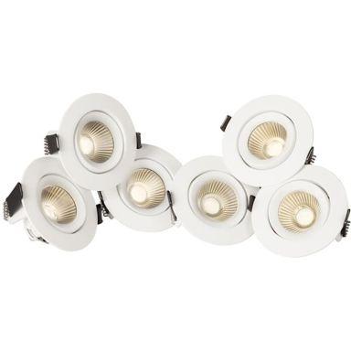 Hide-a-Lite Optic 360 Downlight hvit, tune, 6-pack