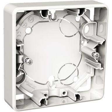 Schneider Exxact WDE002351 Förhöjningsdosa utanpåliggande, 21 mm djup