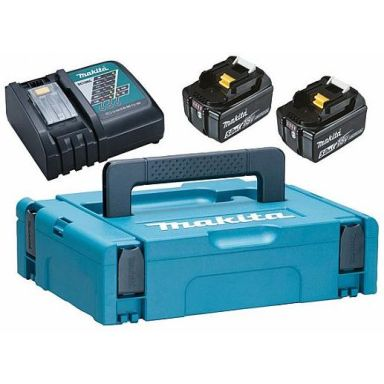 Makita Powerpack 197624-2 Laddpaket 2 x 5,0 AH + laddare