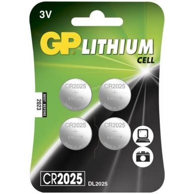 GP Batteries CR 2025-7U4 Knappcell litium, 3 V, 4-pack