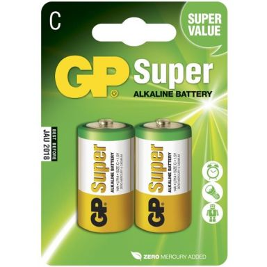 GP Batteries Super Alkaline 14A-U2/LR14 Alkaliska batterier C, 2-pack