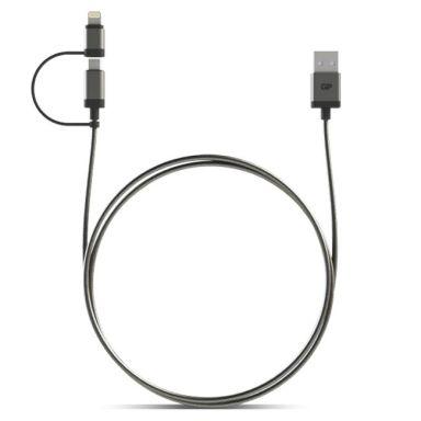GP Batteries MFI USB-kabel Lightning/Micro, 1 m