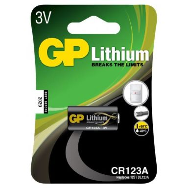GP Batteries CR 123A-U1/123A Fotobatteri litium, 3 V
