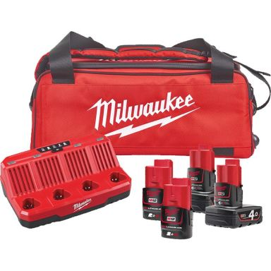 Milwaukee M12 NRG-424B Laddpaket