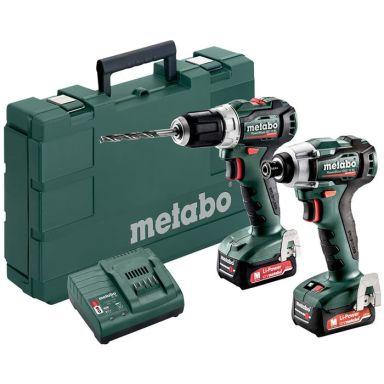 Metabo PowerMaxx BS 12 BL + SSD 12 BL Verktygspaket med batterier och laddare