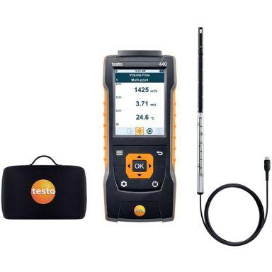 Testo 440 Varmtrådsmätset med varmtrådsgivare och väska