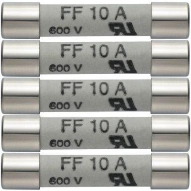 Testo 05900005 Reservsäkringar 10 A/600 V, 5-pack