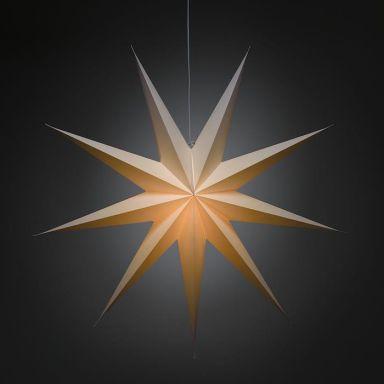 Konstsmide 2919-200 Julstjärna papper, vit, 115 cm