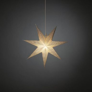 Konstsmide 5900-300 Julstjärna papper, silver, 60 cm